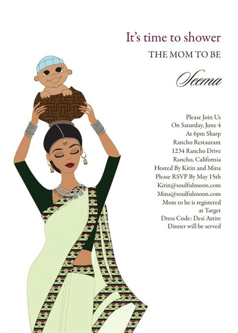 baby shower invitations indian baby carrier indian baby shower invitation by