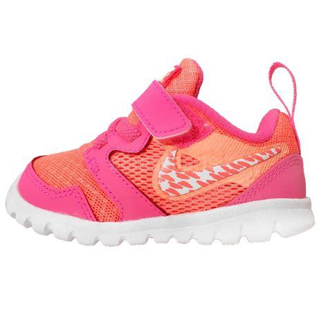 nike flex experience 3 pink orange velcro toddler baby
