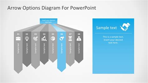powerpoint design options free arrow options diagram for powerpoint