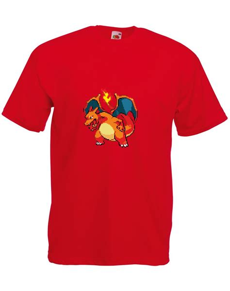 8bit Pikachu 1 Tshirt by 8 Bit Charizard Mens Printed T Shirt Ebay