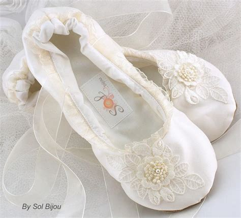 brautschuhe ballerinas ivory ivory ballet flats bridal wedding shoes flats