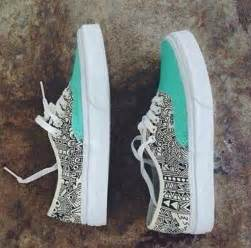 tribal pattern vans shoes vans sneakers tribal pattern blue mint black