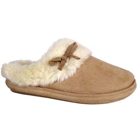 thick sole slippers s8e womens light brown slip on fluffy comfy thick