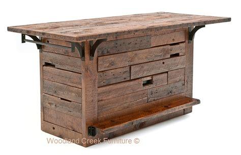 Barn Bar Rustic Barn Wood Bar Reclaimed Wood Custom Made
