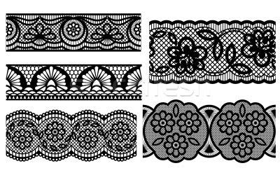 stock photo lace decorative seamless patterns vector