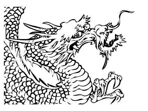 coloring pages of chinese dragons realistic chinese dragon coloring pages