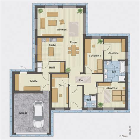 bungalow mit garage grundrisse bungalow mit integrierter doppelgarage loopele