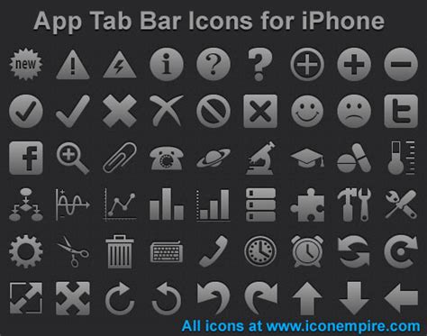 Iphone Icons Top Bar by App Tab Bar Icons For Iphone By Iconoman On Deviantart