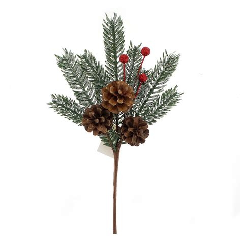 christmas floral picks and stems pine cone picks