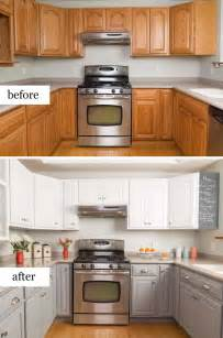 nice Kitchen Gray Walls White Cabinets #9: 2-3-before-and-after-kitchen-remodel.jpg