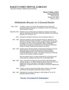 pediatric dentist resume sles