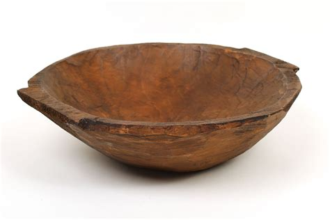 chubster deep rustic wooden dough bowl with