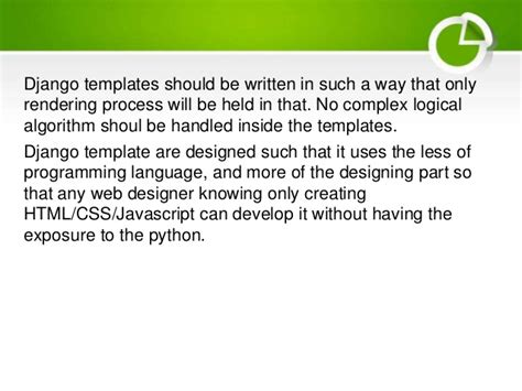 django template language web development with django basics presentation