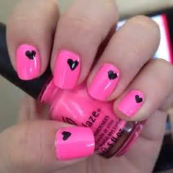 neon pink nail art creative nail design