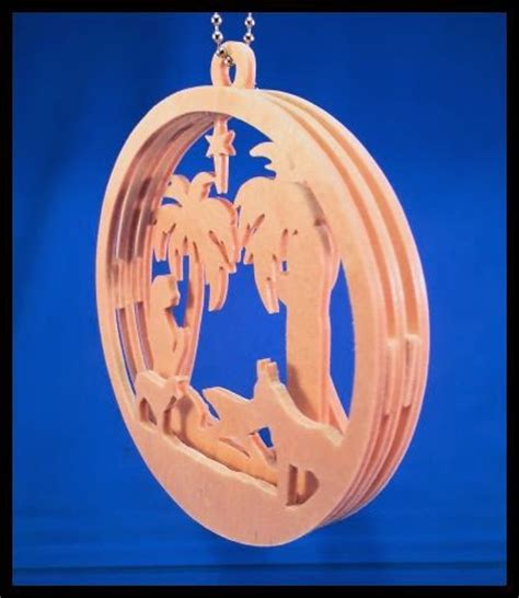 scrollsaw workshop layered nativity christmas ornament