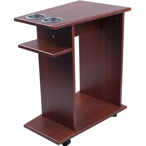 table top cup holder trademark mahogany drink food cart with cup