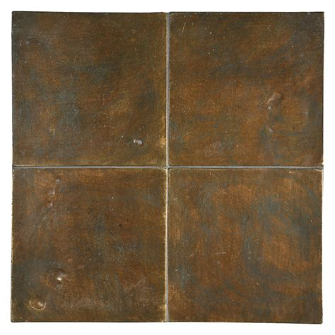 Tile Backsplashes For Kitchens Alumenia Series Brown Green Patina 6 Quot X 6 Quot Tile