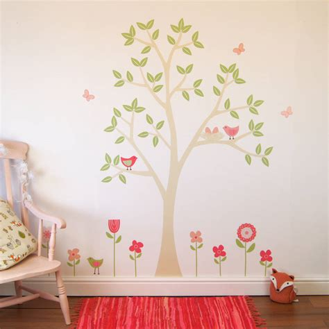 Garden Wall Sticker flower garden wall stickers by parkins interiors