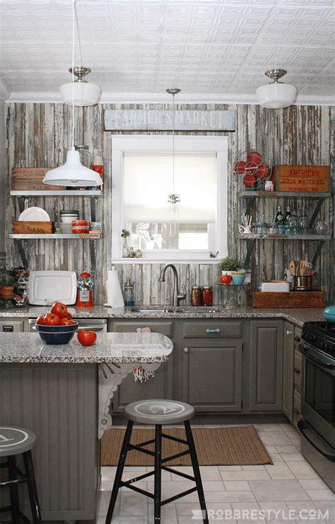 vintage farmhouse kitchen reveal