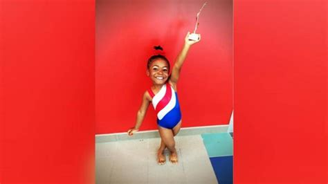 how is 6 in years 6 year gymnast gets some from biles www wokv