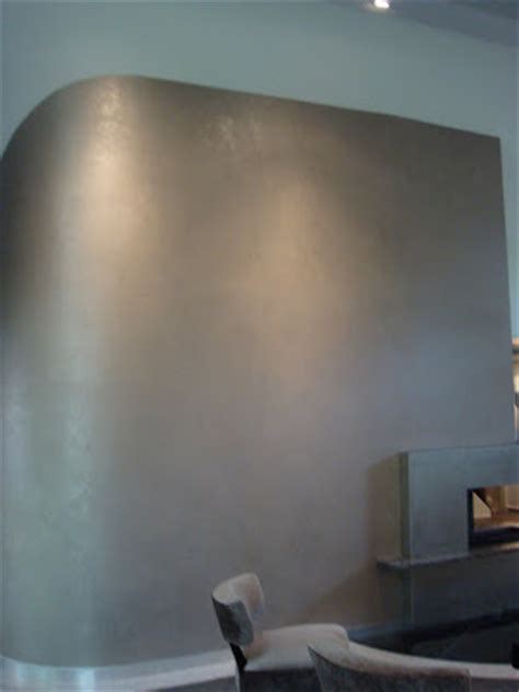 Silver Paint Colors Walls | laurell banner faux painting silver wall
