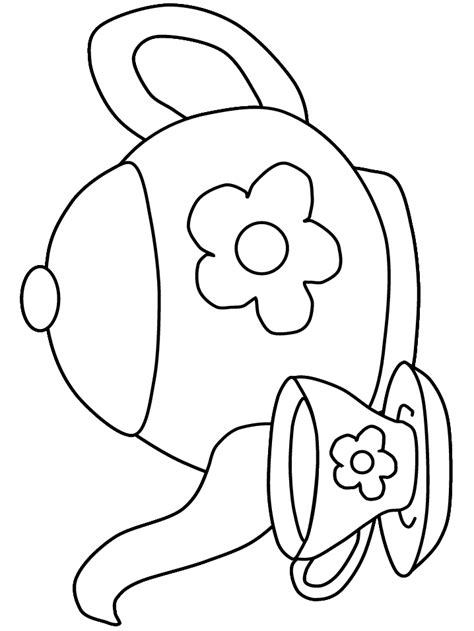 tea party coloring page coloring home