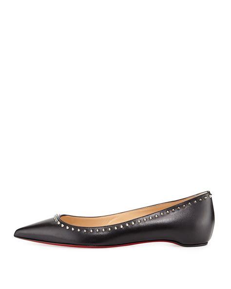shoes flats christian louboutin anjalina studded leather ballet flats