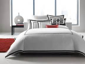 Red And Black Duvet Cover Sets Hotel Collection Bedding Tuxedo Embroidery Contemporary
