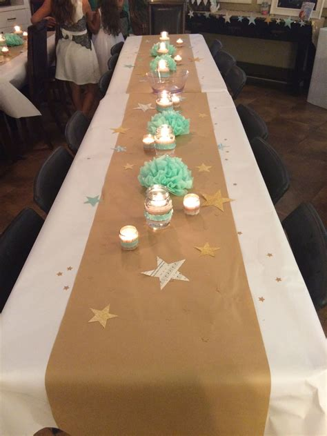 Decorating A Baby Shower Table by Twinkle Twinkle Baby Shower Table Decorations