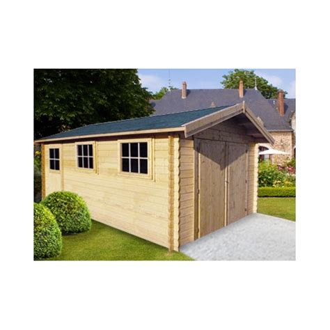 Garage Bois 385 by Garage Voiture En Bois 44 Mm Excellent Rapport Qualit 233