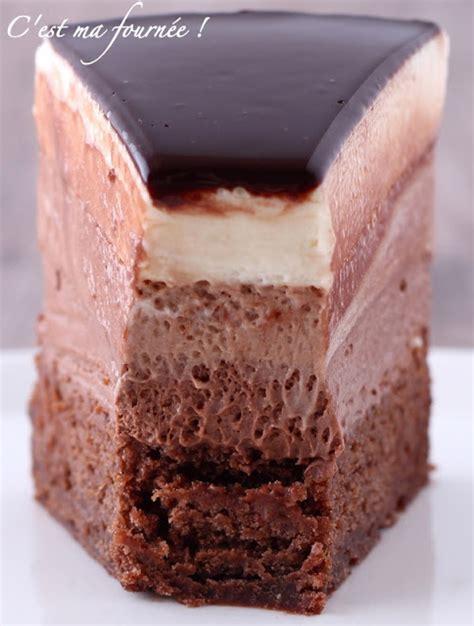 C'est ma fournée !: L'entremets trois chocolats de Valrhona Gateau De