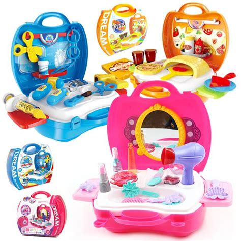 Bowa 8311 The Suitcase Kitchen Cooking Koper suitcase play set doctor pizza supermarket best educational infant toys