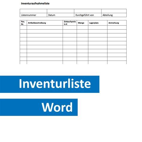 Kostenlose Vorlage Inventarliste Gratis Inventurliste Zum Ausdrucken Convictorius