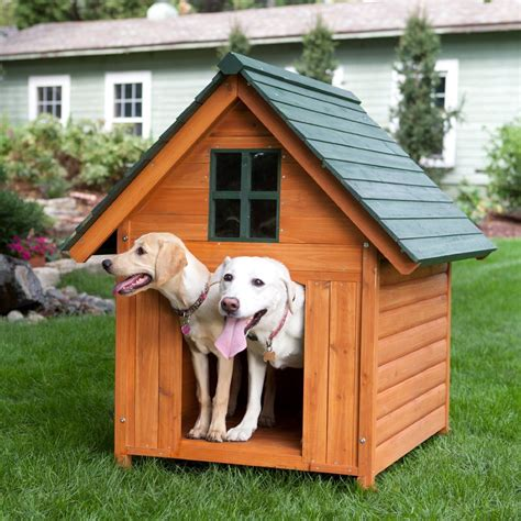 dog house warm large dog house heated pet kennel deluxe rustic wooden