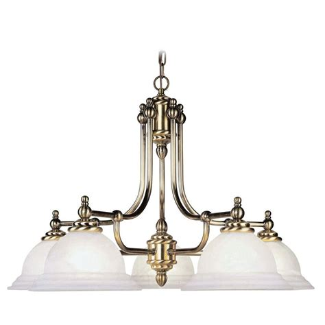 Brass Chandelier Antique Livex Lighting 5 Light Antique Brass Chandelier With White Alabaster Glass Shade 4255 01 The