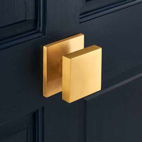 Pushka Door by Luxury Solid Brass Gold Square Centre Door By Pushka
