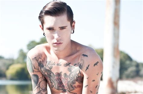 male models with tattoos 17 models with tattoos the front row view