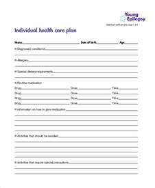 individual health care plan template 9 healthcare plan templates free sle exle free