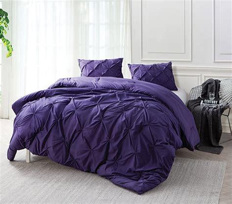 purple comforter twin xl purple reign pin tuck twin xl comforter