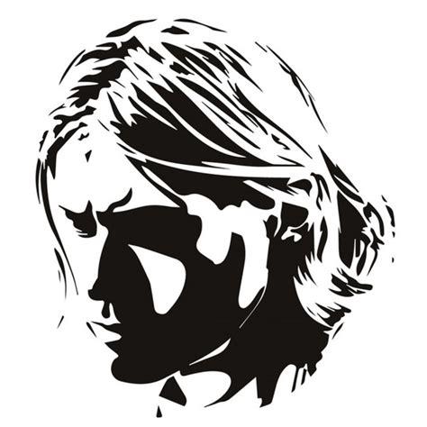 celebrity ink logo kurt cobain wall sticker rock music nirvana wall decal