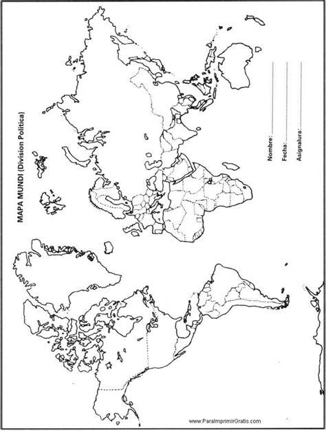 cadenas montañosas mapamundi planisferio con nombres y division politica para imprimir