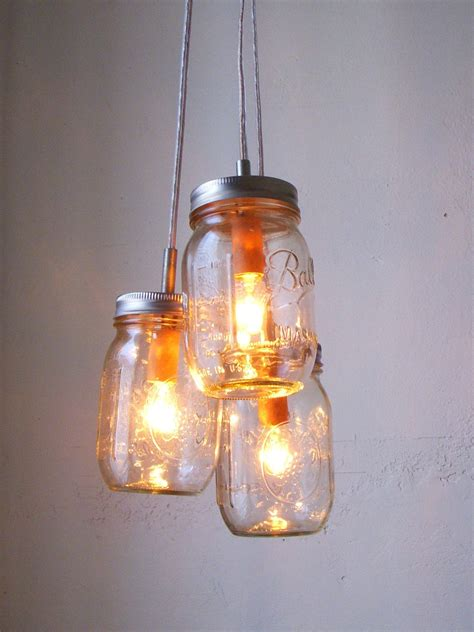 Jar Pendant Chandelier Summer Splendor Jar Chandelier Hanging Pendant By Bootsngus