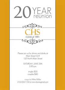 classic colors 20 year class reunion invitation by purpletrail 20 year class reunion