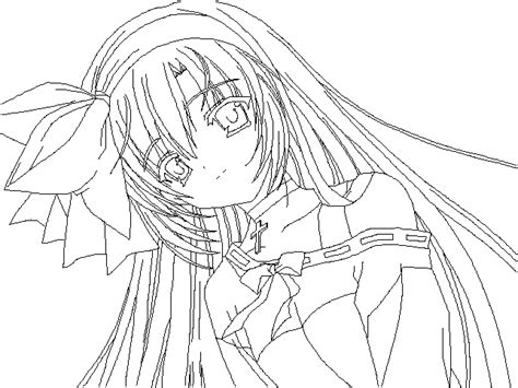 good anime girl coloring pages online photo with anime