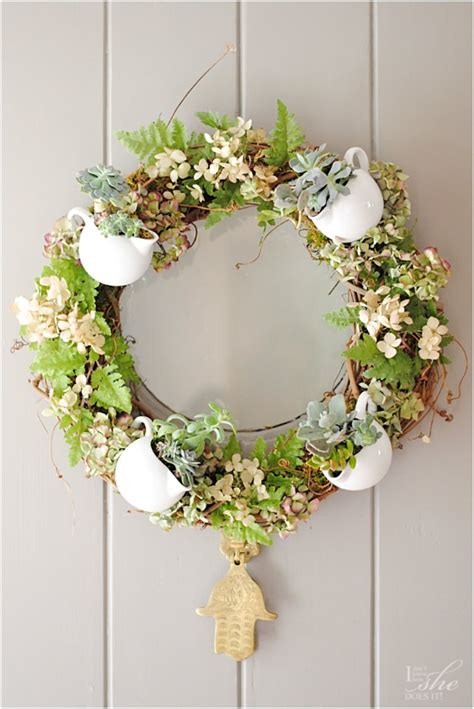 door wreaths for spring give spring a warm welcome with 18 flowery diy wreaths