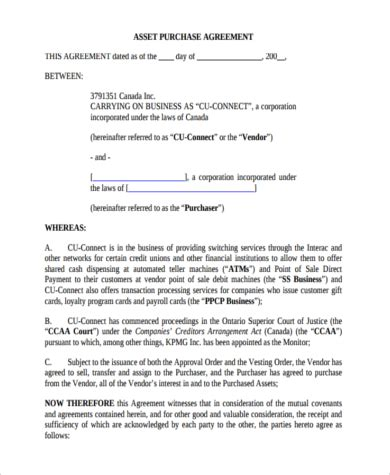 small business purchase agreement template 6 small business purchase