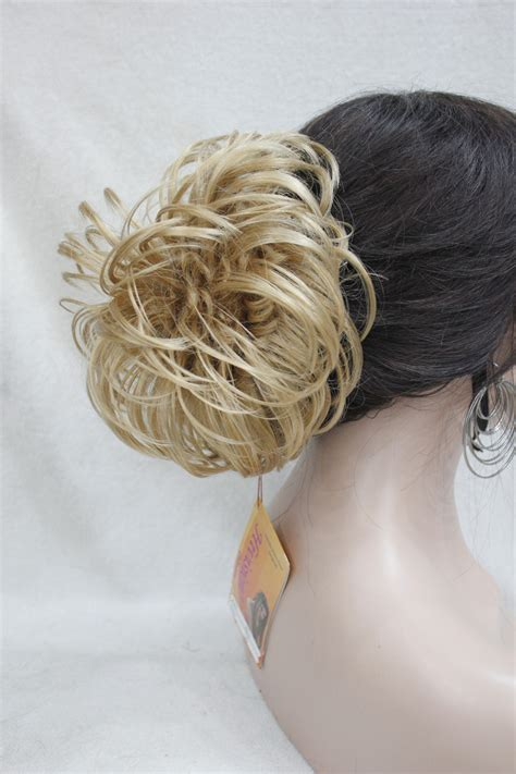 top knot or bun hair wiglet blonde mixed dome wiglet drawstring ponytail 6 quot bun cover