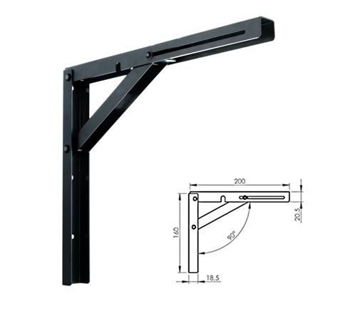 Folding Shelf Bracket Uk by New Designer Wall Mounted Folding Quality Shelf Bracket