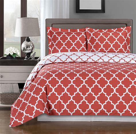 coral and white bedding coral duvet cover set ease bedding with style
