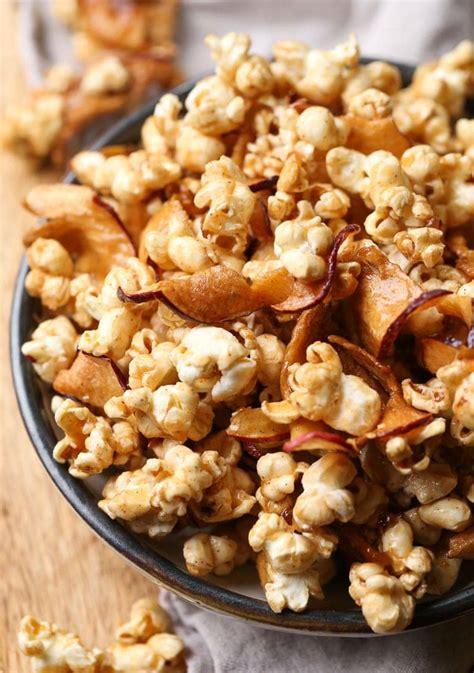 caramel apple popcorn   sweet salty popcorn recipe